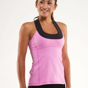 Lululemon Scoop Neck Heather Smoky Rose/Deep Coal